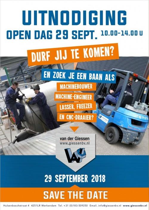 Uitnodiging opendag 29 September 2018